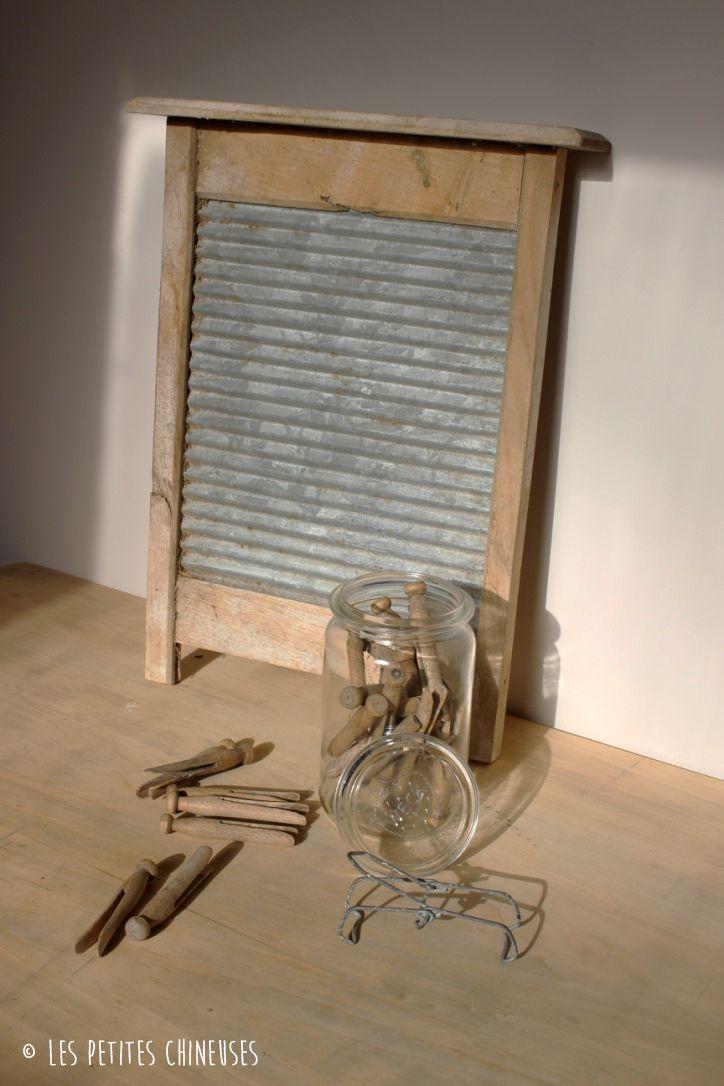 les petites chineuses inspirations buanderie anciennes pinces linge authentiques en bois. Black Bedroom Furniture Sets. Home Design Ideas