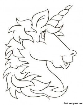 Print out unicorn head coloring pages for kids - Printable Coloring ...
