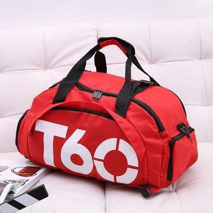 NIYOBO Letter Print Men Travel Bag Nylon Women Handbag Ladies Large  Capacity Luggage Backpacks Shoe Case 31d88aae18af2