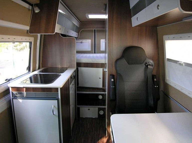 HRZ photo of the interior layout of the Freedom Camper