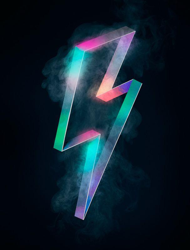 Lightning Bolt Tom Ashton Booth Retro Graphic Design Lightning Bolt Tattoo Neon Wallpaper