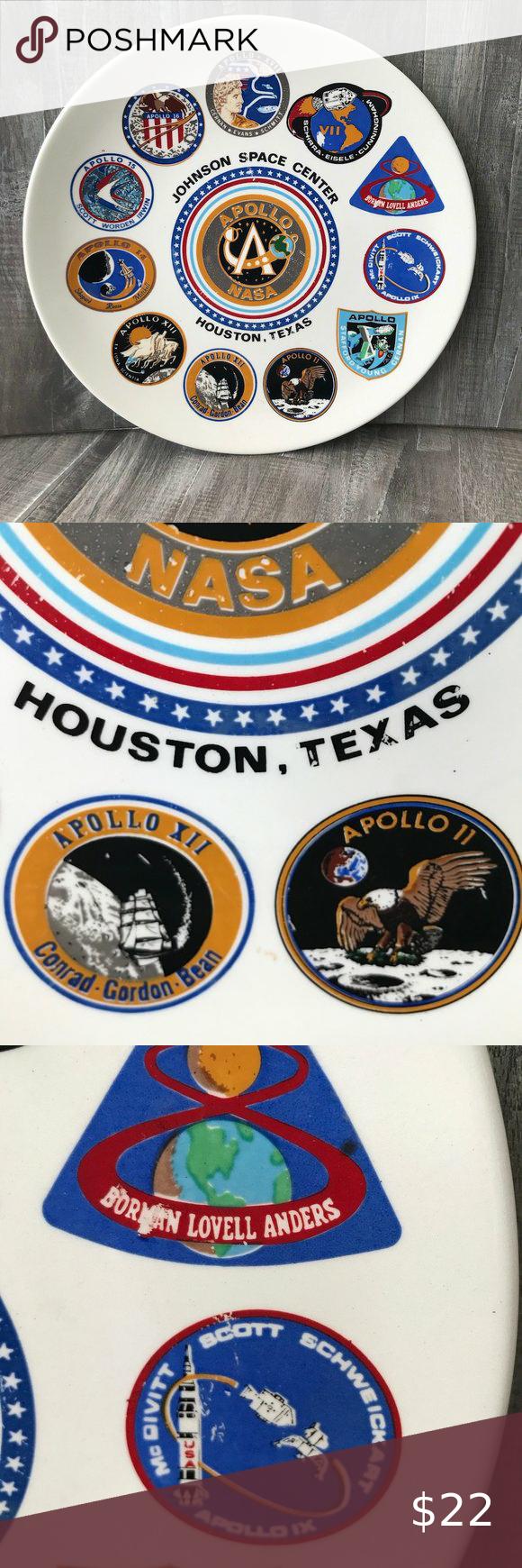 Apollo NASA Johnson Space Center Vintage Plate 🚀 in 2020