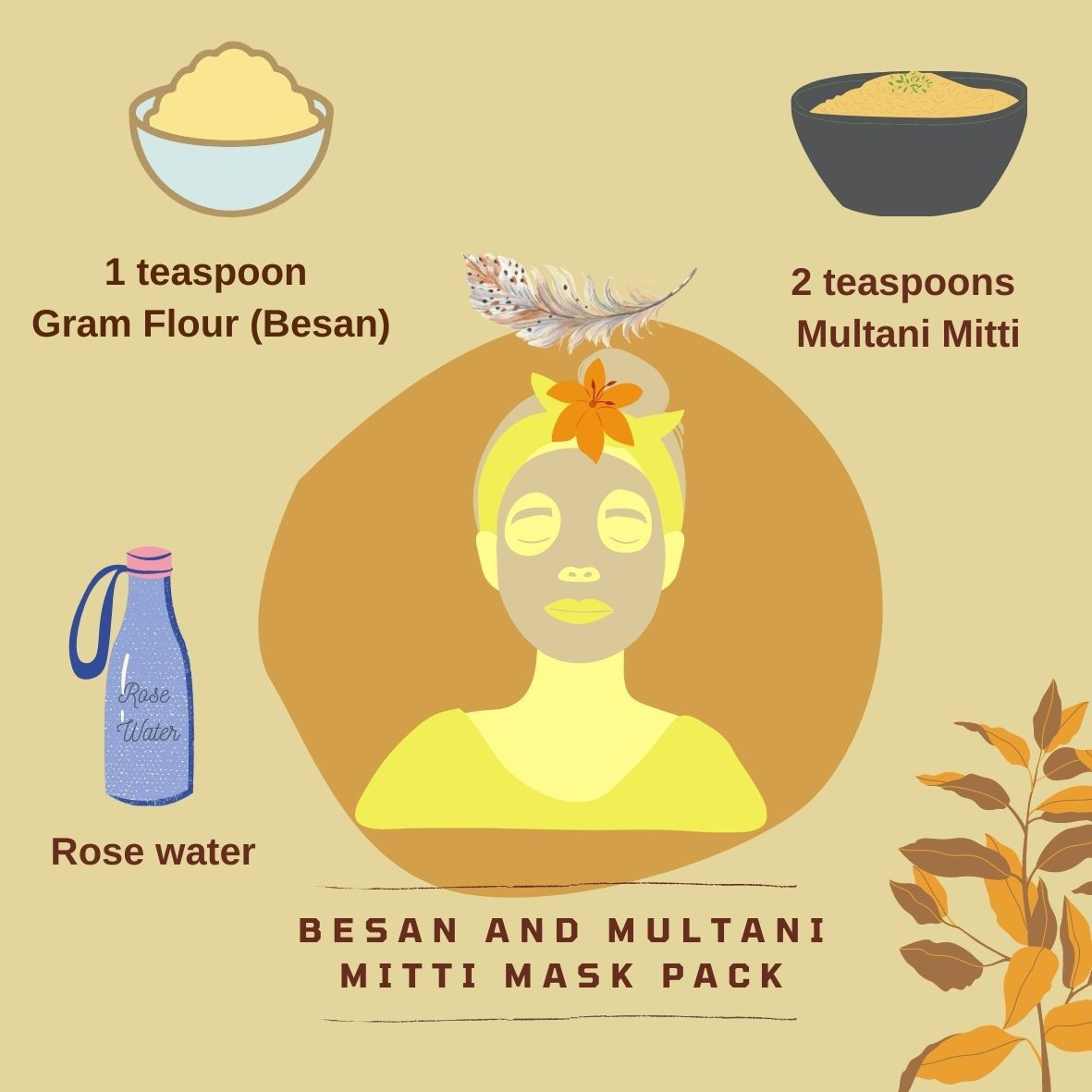 Multani Mitti and Besan Face mask for Oily skin  Natural skin