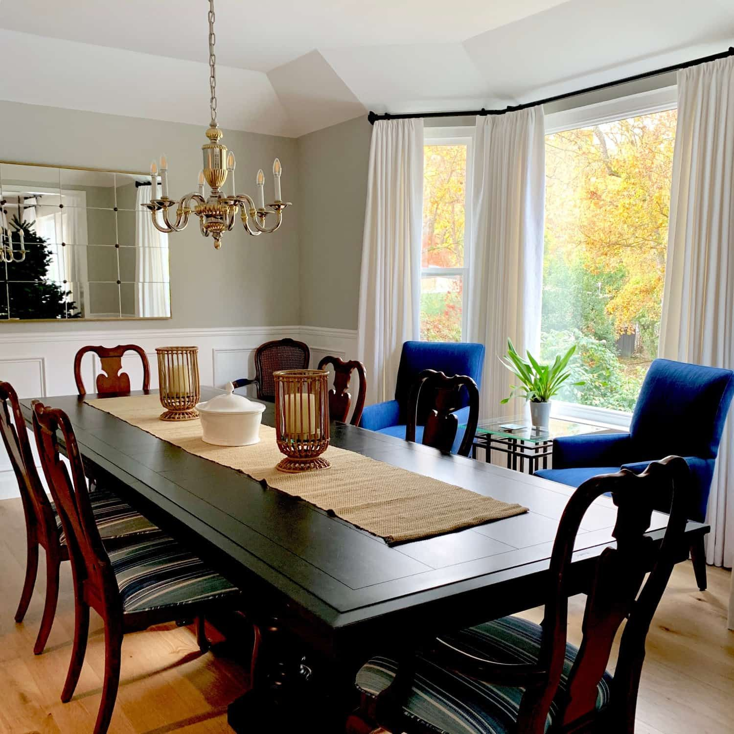 Traditional Dining Room Refresh Before And After Traditional