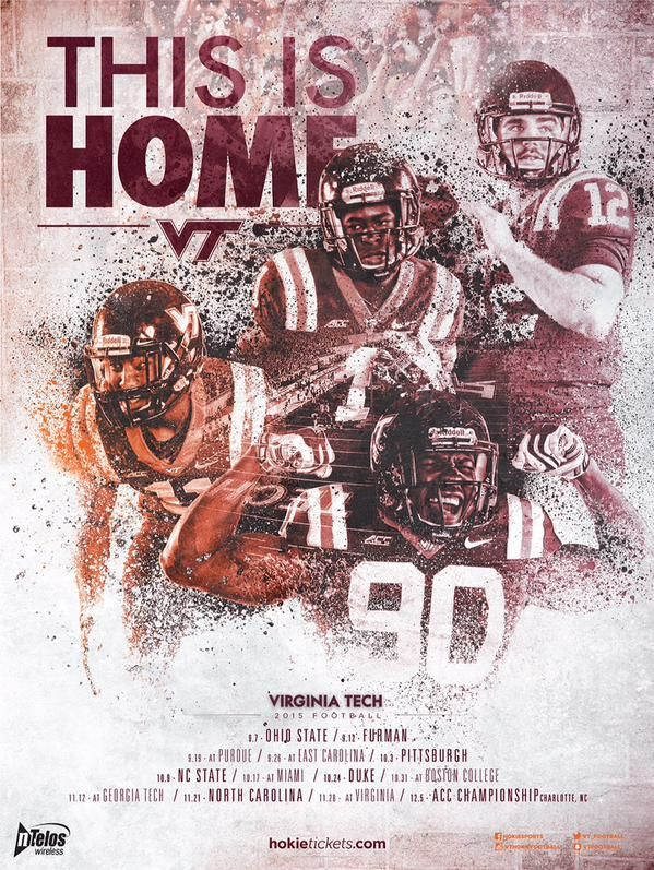 This Is Home 2015 Football Poster Football Poster Virginia