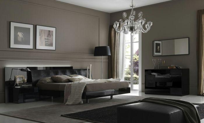 Wandfarbe Braun mit Bilderrahmen Bilderwände Pinterest - schlafzimmer modern braun
