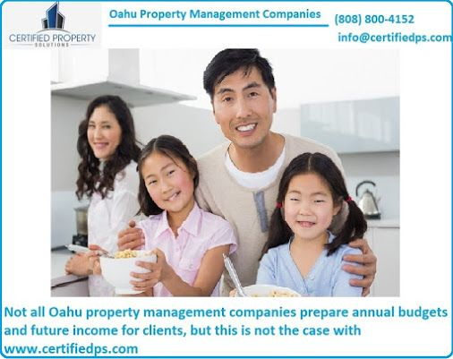 Not all Oahu property management companies prepare annual budgets and future income for clients, but this is not the case with https://www.certifiedps.com