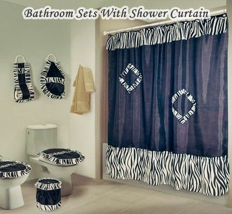 Bathroom Sets With Shower Curtain And Rugs And Accessories Rose