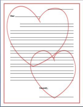 Valentine S Day Friendly Letter Template Valentine S Day Letter