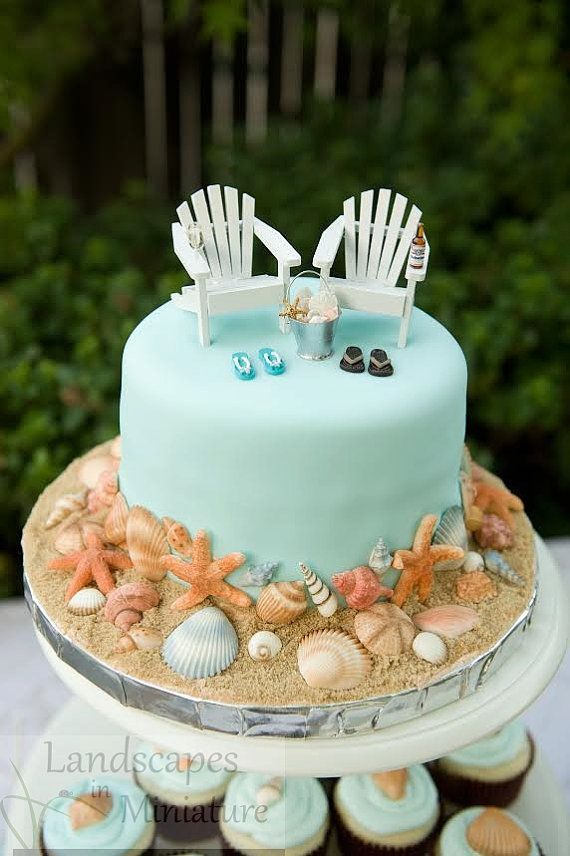 Wedding Cakes The EVERYTHING YOU SEE Set - Beach Theme Wedding Cake ...
