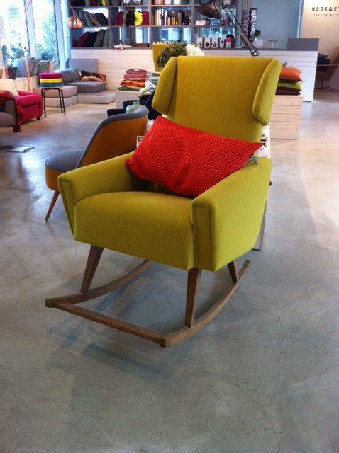 Möbeldesign Stuttgart cozy leo vintage schaukelstuhl mit bolster kissen hook eye the