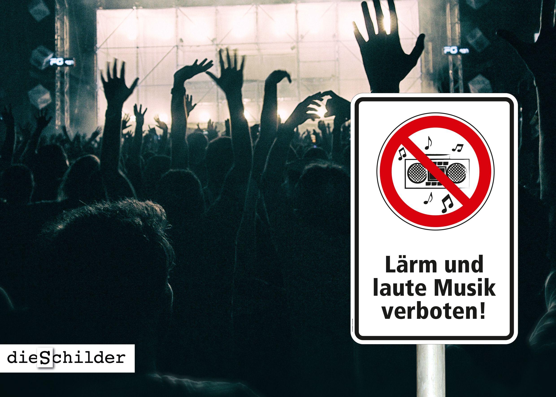 Verbotsschild Lärm Und Laute Musik Verboten Größen Ab 200 X 300 Mm