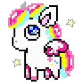 Unicorn Color By Number Pixel Art Color Number App Number Color Color By Number Pixel Number Coloring Free Pixel Color By Num Pixel Art Pixel Color Pixel
