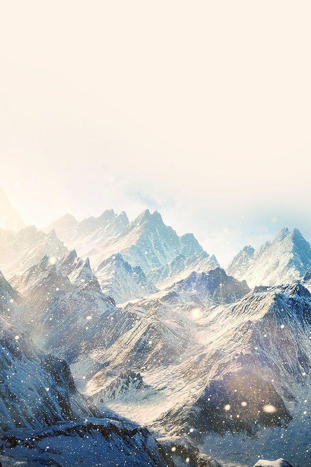 Winter Snowy Mountain landscape iPhone 4s Wallpaper