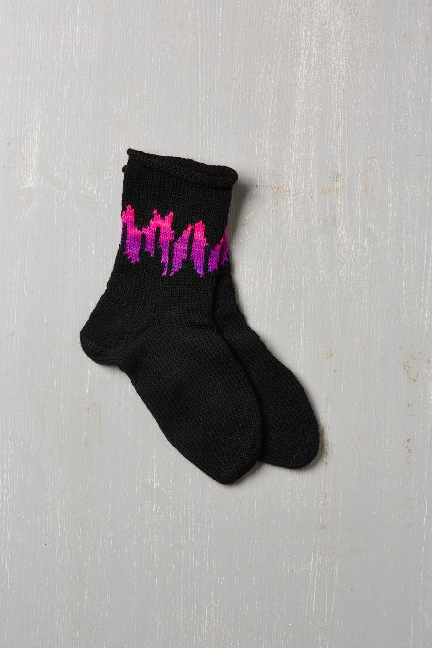 Yleisö rakasti Suuri Käsityö -lehden kilpailuun osallistuneen Paula Loukolan sukkia.