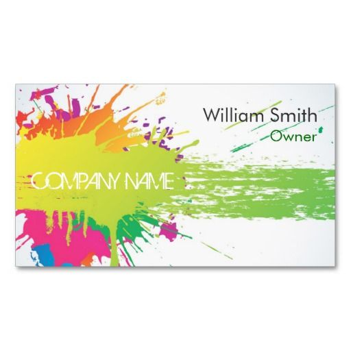Painter Business Card Zazzle Com In 2021 Painter Business Card Printing Business Cards Painting Logo