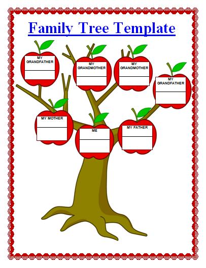 Family Tree Template Office Work Pinterest Family Trees