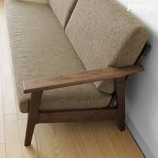 Couch With Wooden Arms Google Search