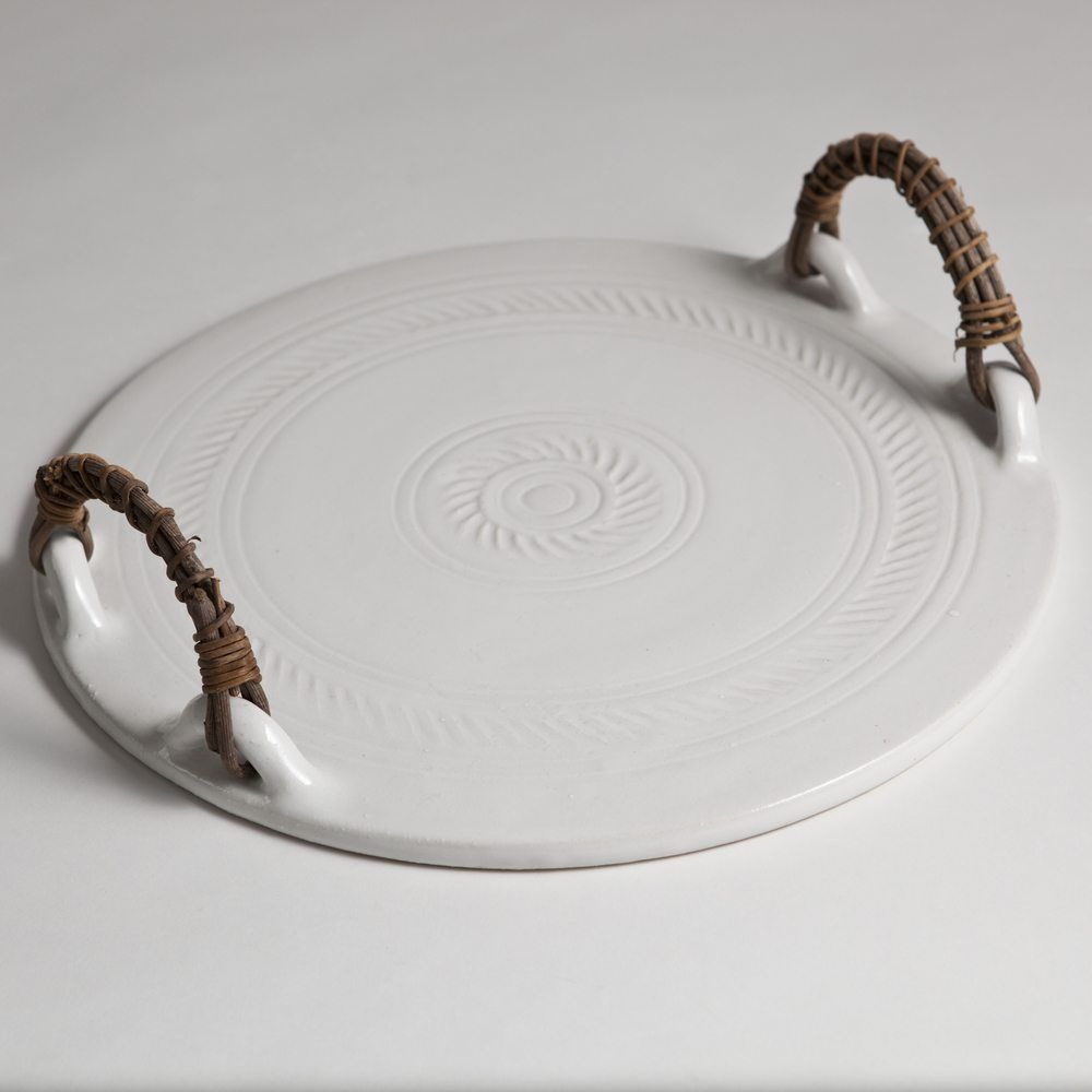 Hand Thrown White Ceramic Cheese Board | The Maker Place | Escultura ...