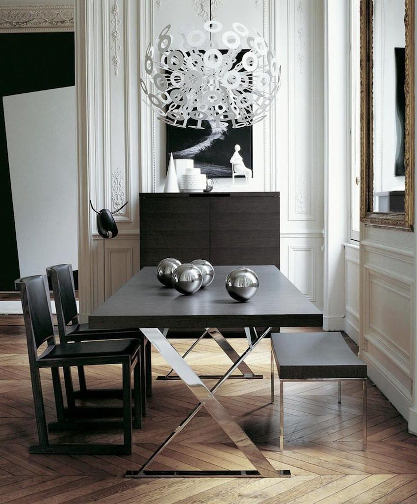 10 Spectacular Modern Dining Room Sets To Inspire You On This Magnificent Black And Silver Dining Room Set Design Decoration