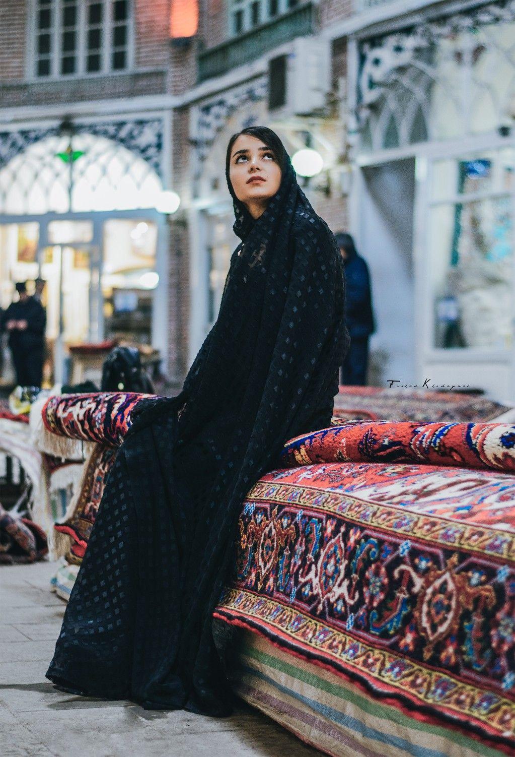 ba12fd870fc7 Girl in Tabriz Grand Bazar