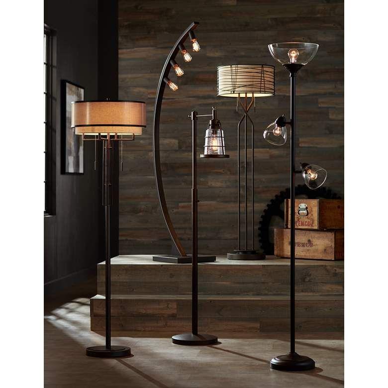 Riley Bronze 3 Light Tree Torchiere Floor Lamp 32y86 Lamps Plus Torchiere Floor Lamp Floor Lamp Lamp