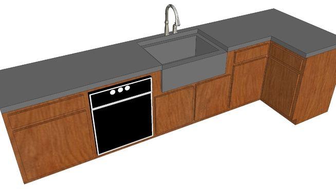Kitchen Cabinet 3d Warehouse Kitchen Cabinets Kitchen Concrete Countertops