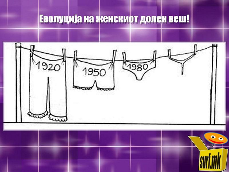 Еволуција на женски долен веш! http://surf.mk/