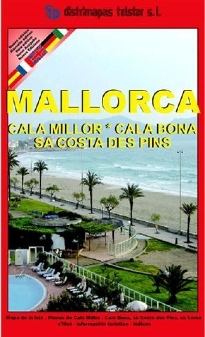 Majorca Cala Millor and Cala Bona Spain by Distrimapas Telstar