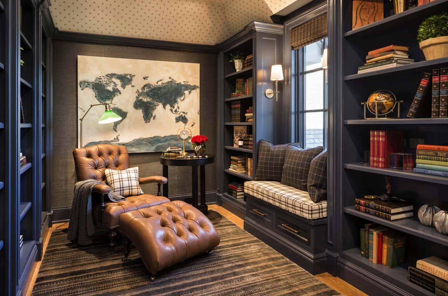 French Chateau Inspired Home Nestled On Beautiful Lake Minnetonka Home Office Design House Design Home Library Design