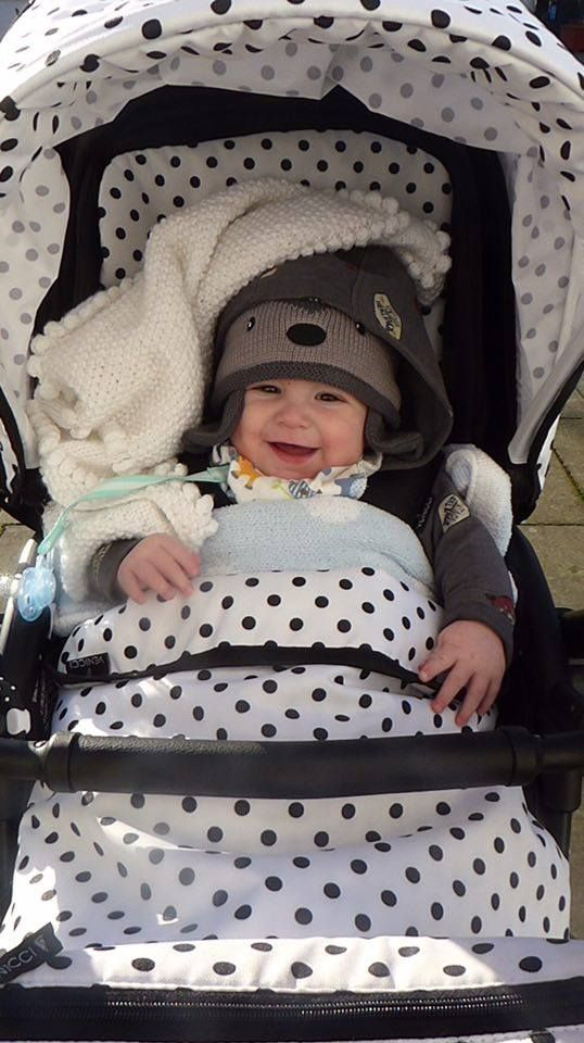 6 Month Old Oliver Enjoying The First Time In His Venicci Pushchair