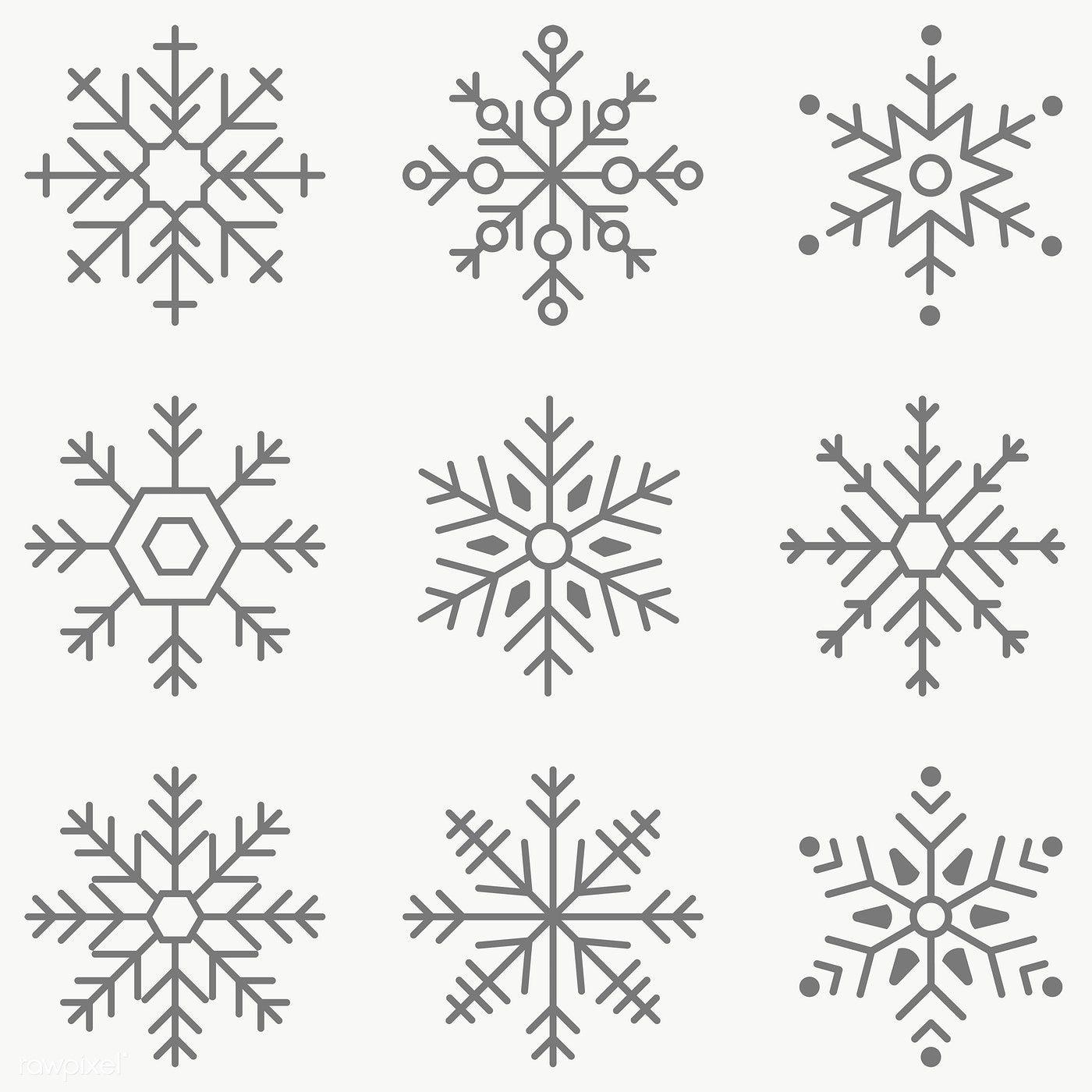 Gray snowflakes social ads template set vector | premium image by rawpixel.com / sasi