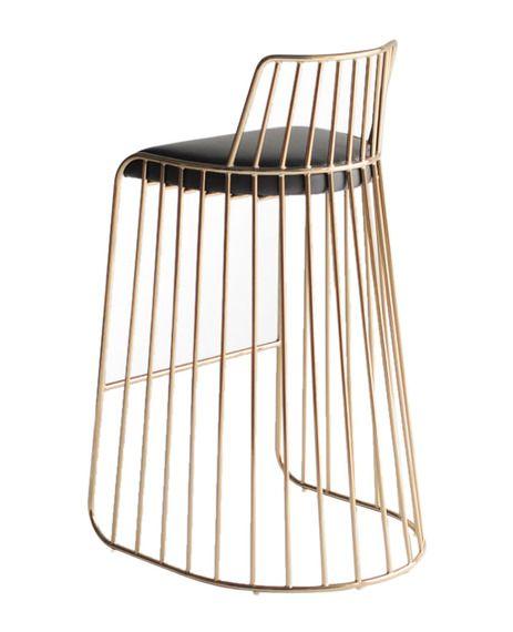 bridesveil stool by phase stools metal modern crazy cool brass bar