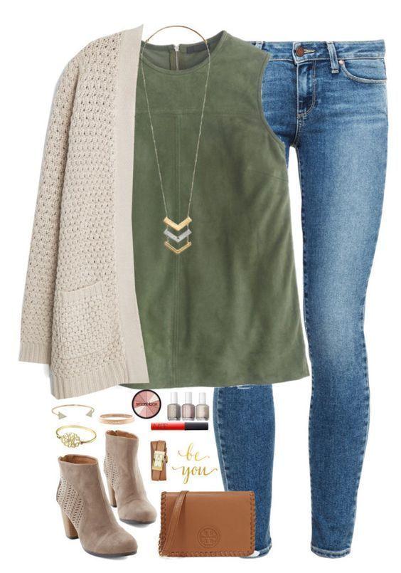 15 lässige Outfits im Frühherbst, die Sie den ganzen Tag tragen können #casualfalloutfits