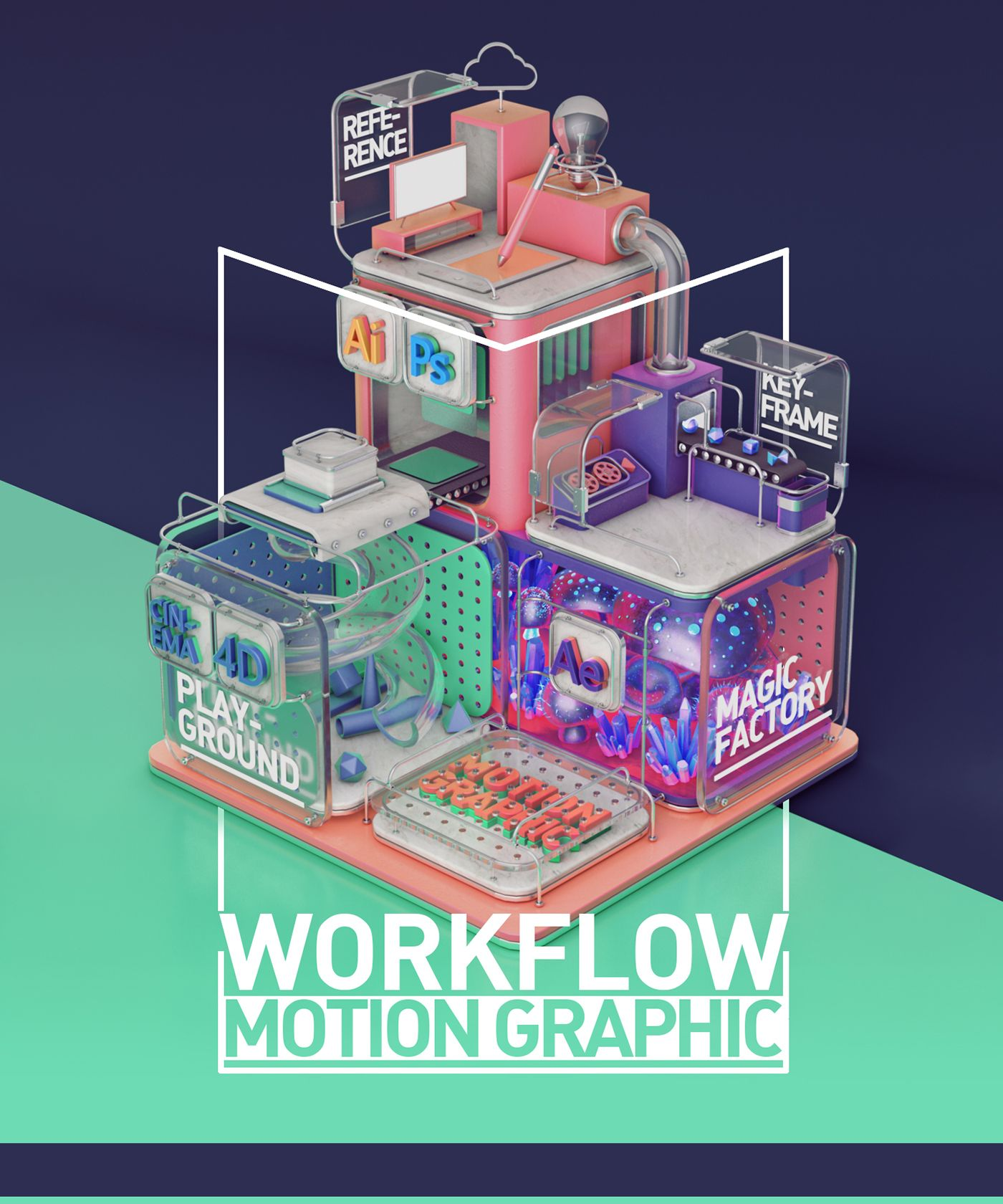The Art of Motion Graphic Workflow on Behance #motiongraphic