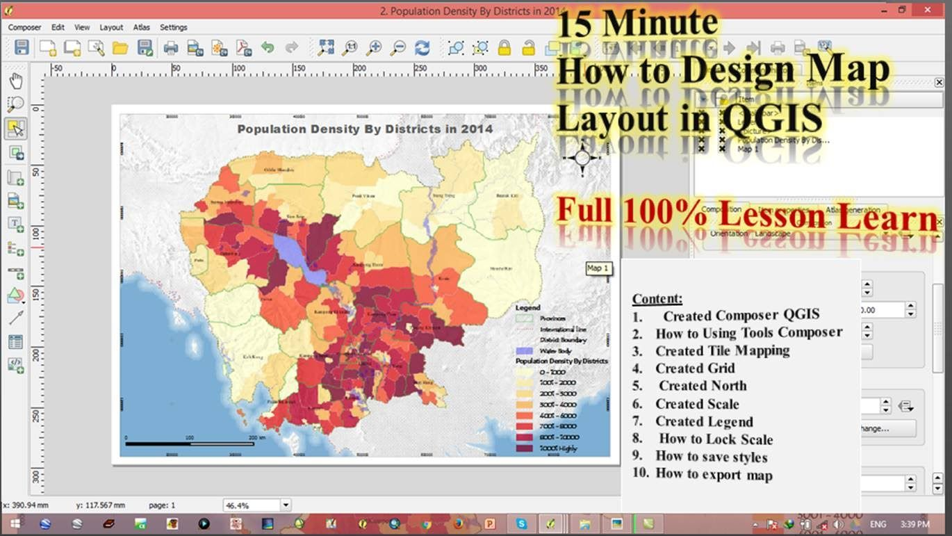 Creating Map layouts in QGIS | Geospatial / GIS | Map layout