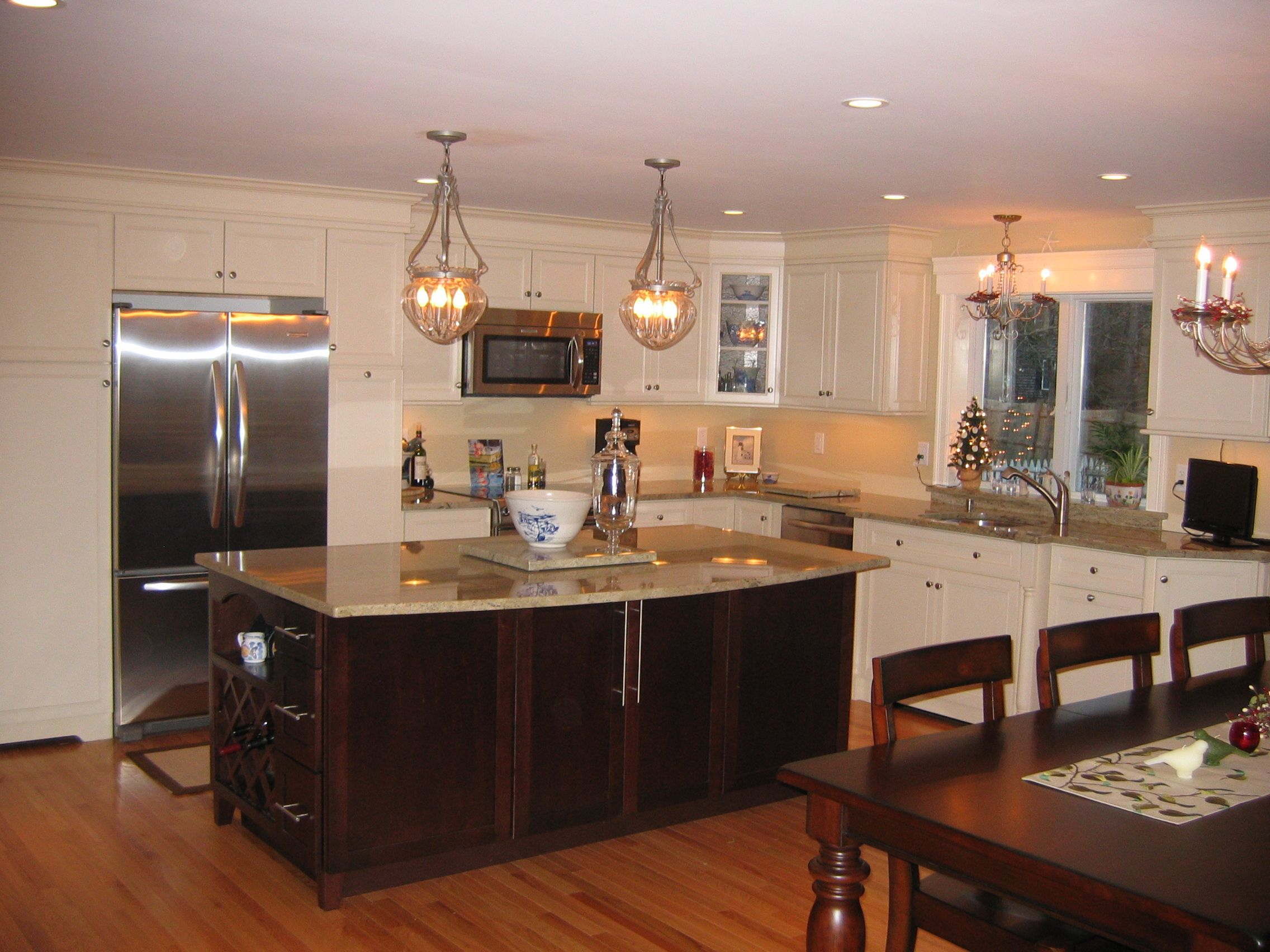 Kitchen with Merillat Masterpiece Cabinets Hadley door style