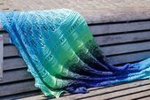 Photo of Knit triangular scarf with decorative lace edge – Vicky scarf, #decorative … – My …