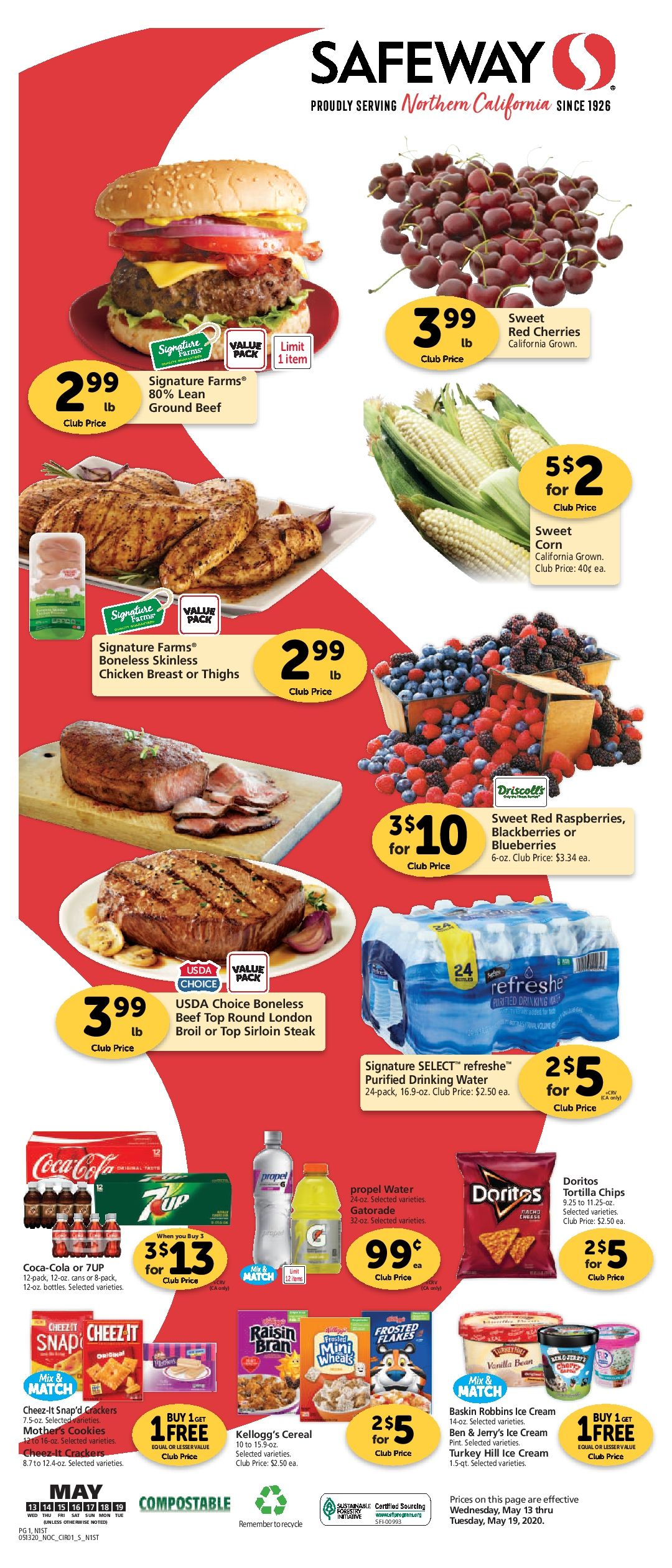 Safeway Grocery Ad 05 13 20 05 19 20 Next Week Preview In 2020 Gluten Free Wine Beef Prices Grocery Ads