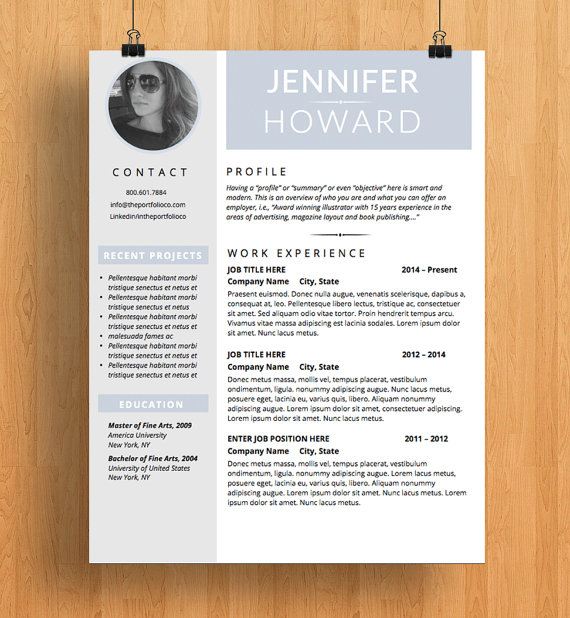 Resume | CV Template and Cover Letter | Modern Resume Designs | Mac ...