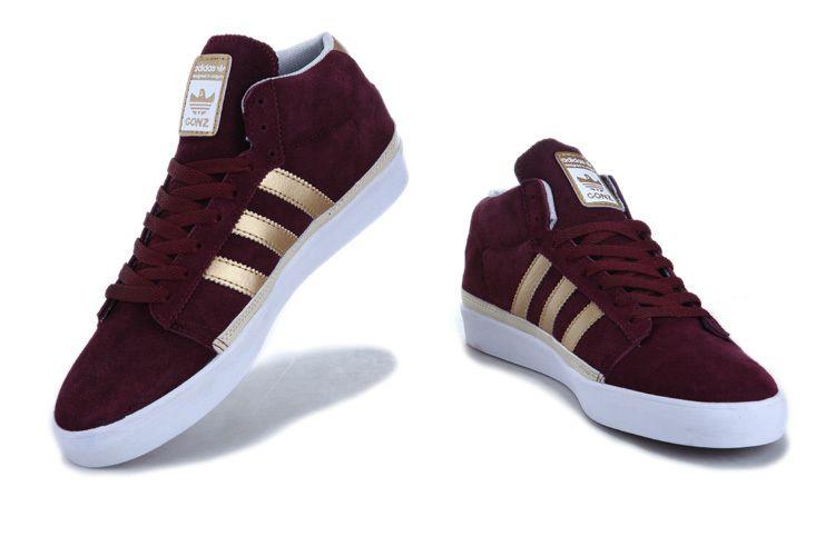red Adidas Skate Rayado Mid # adidas shoes | Chaussure