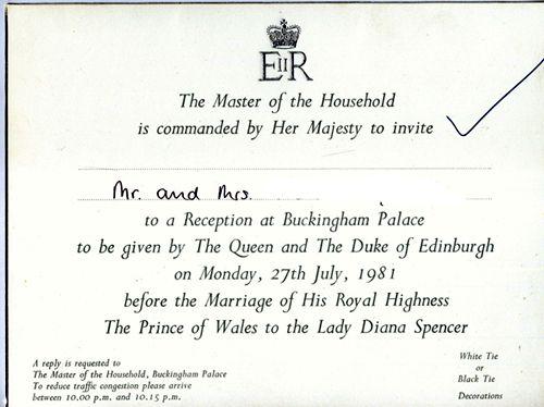Prince Charles And Diana Wedding Program