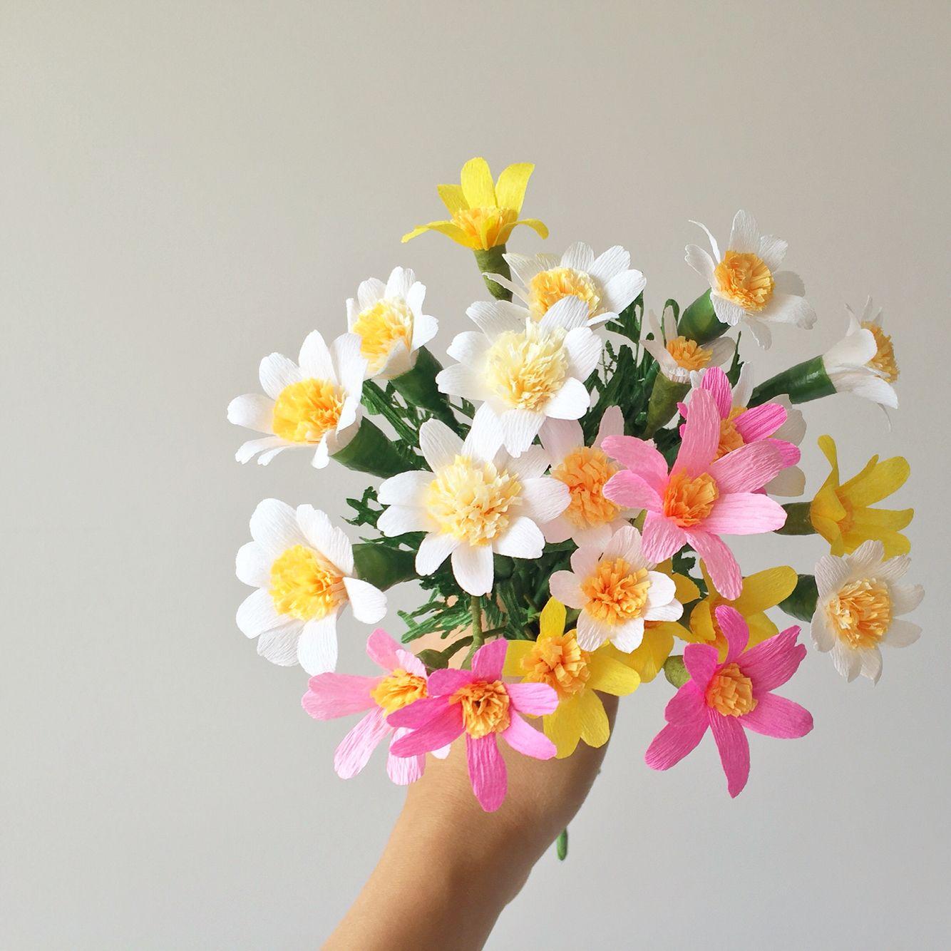 Crepe Paper Daisies By Flowerfilledlife Crepe Paper Pinterest