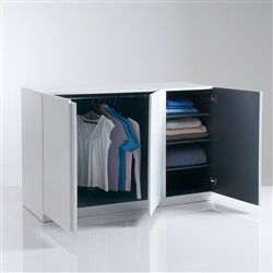 armoire penderie basse. Black Bedroom Furniture Sets. Home Design Ideas