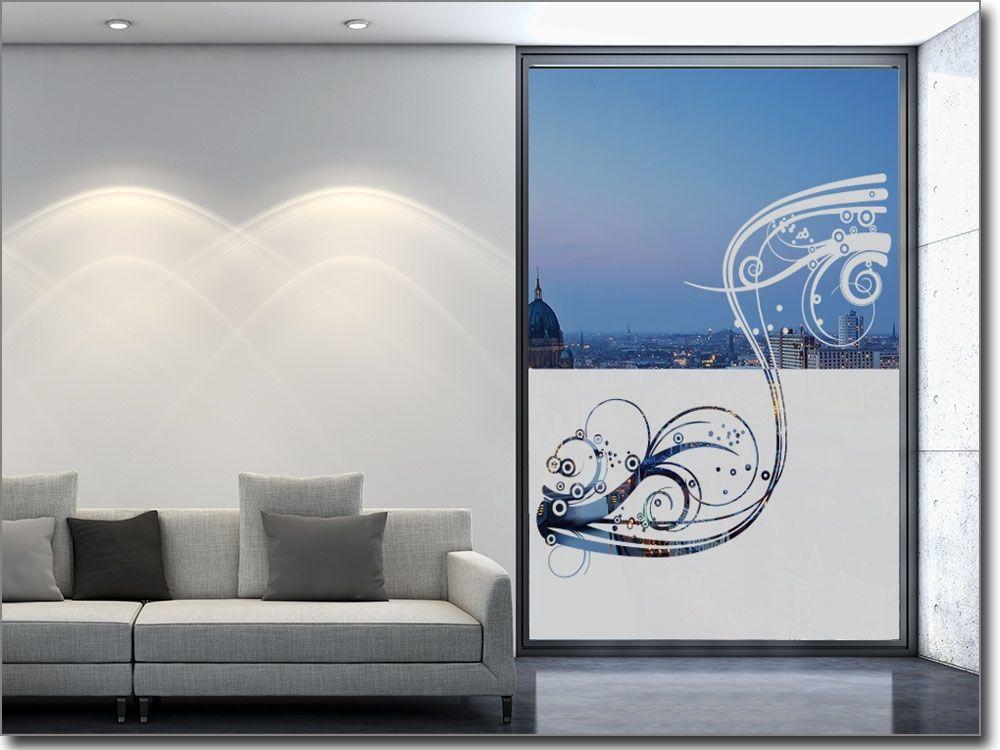 Sichtschutz Ornament Welle