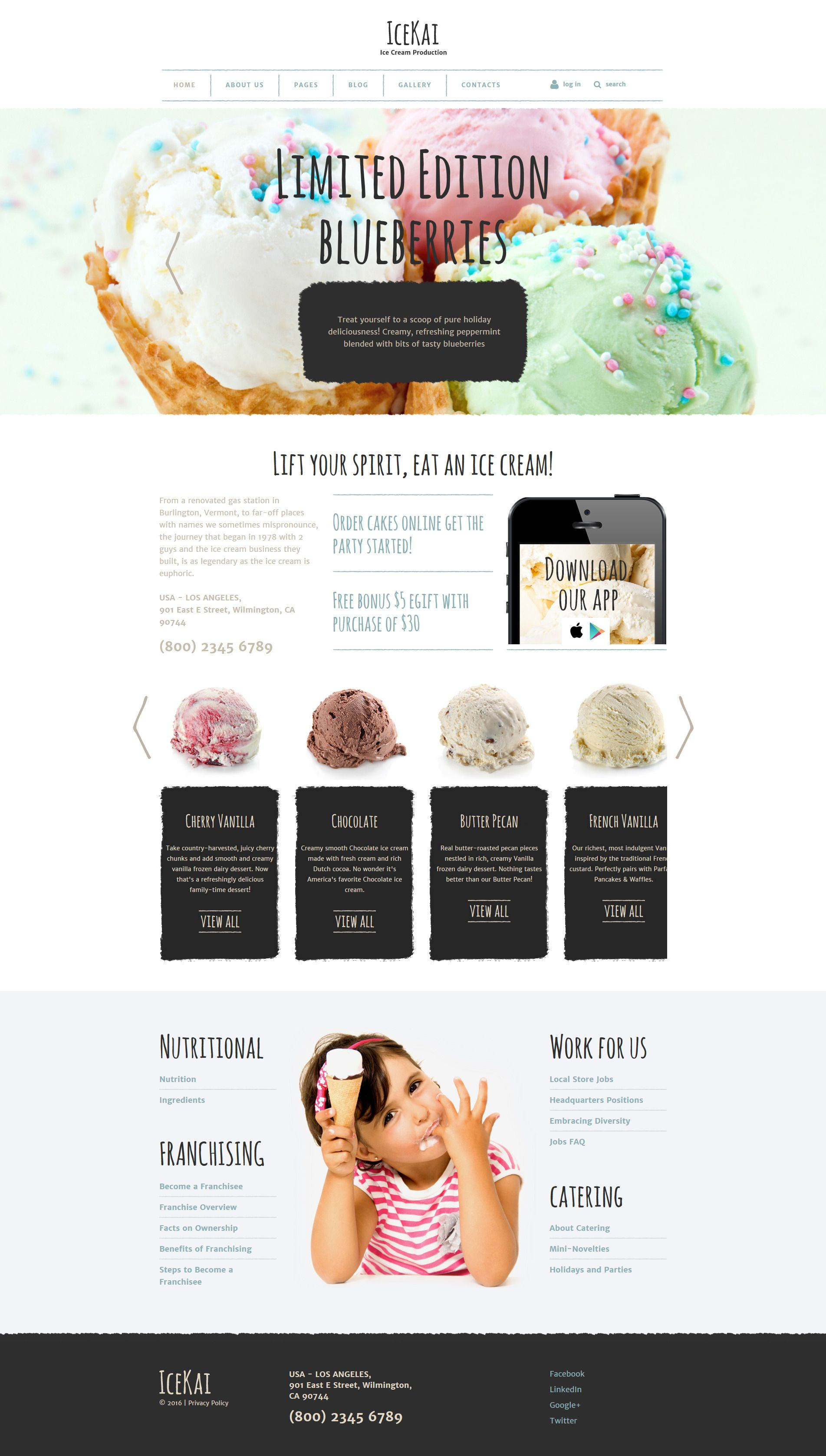 Ice Cream Joomla Theme http://www.templatemonster.com/joomla ...