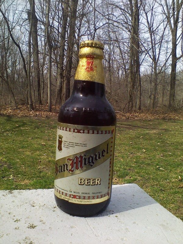 San Miguel Brewery 12oz Glass Beer Bottle W Cap Philippines Empty Sanmiguel Beer Bottle Beer Beer Glass