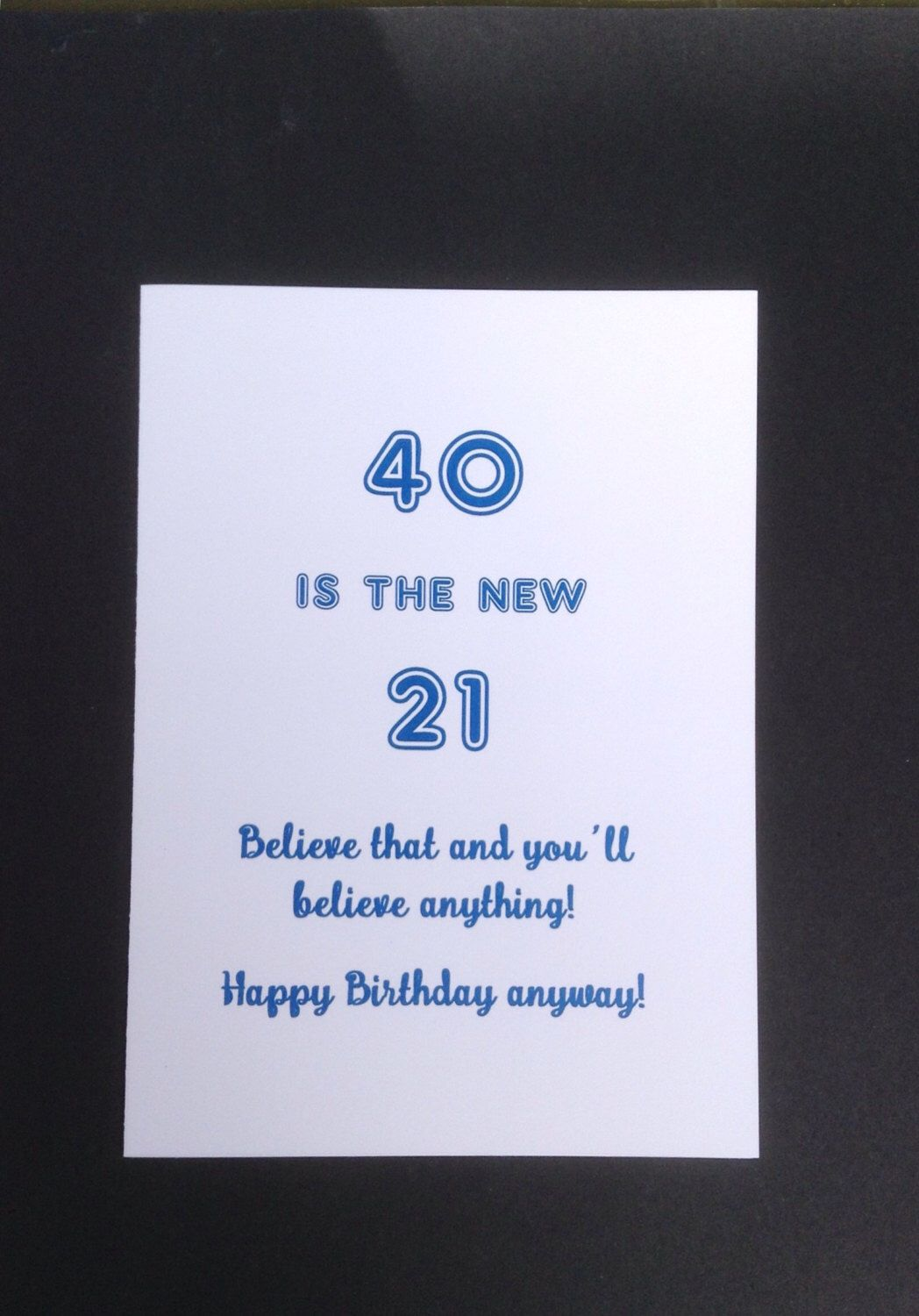 40th birthday card card for 40 year old funny 40th