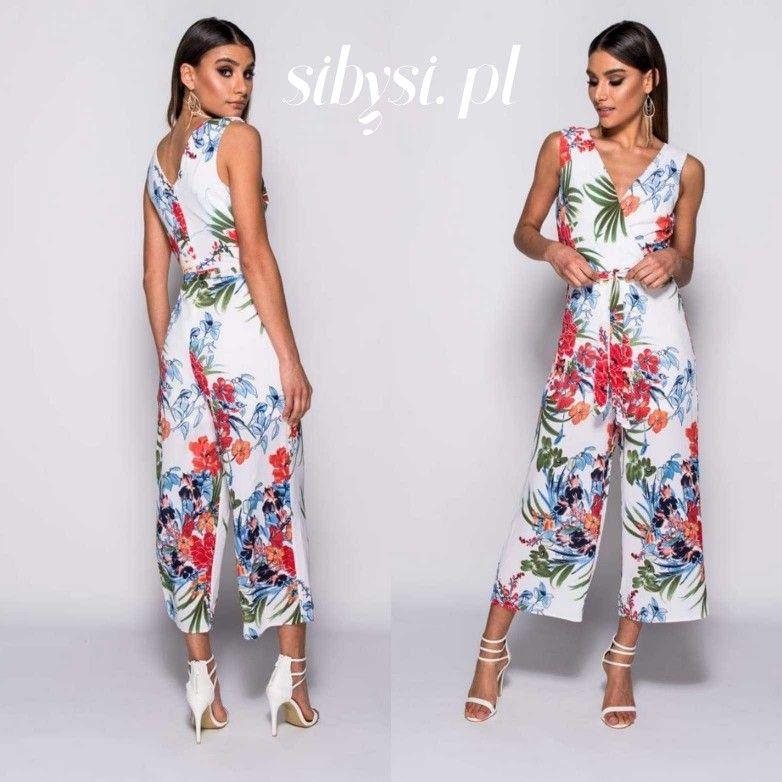 Kombinezon W Kwiaty Fashion Dresses Jumpsuit