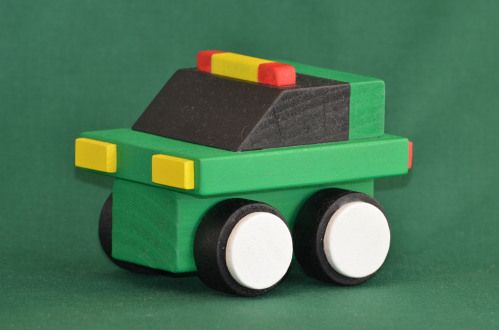 Handmade Wooden Toy Cars and Trucks Quick Builds Plan Sets For The Table Saw Wood Toy Cars and Trucks Eco Car Green White Black #odinstoyfactoy #handmade #handcrafted #woodentoys #toys #tallahassee #florida #cars #trucks #ecocar #green #black #white #kidswoodcrafts